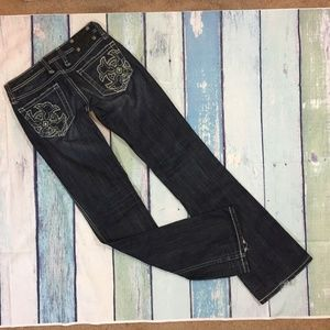 Miss Me Women's Low Rise Boot Cut Denim Jeans 27